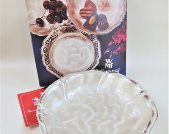 WMF Ikora Candy Server Bowl Vintage Silver Plated Mid Century Modern Collectable Original Box Home Decor