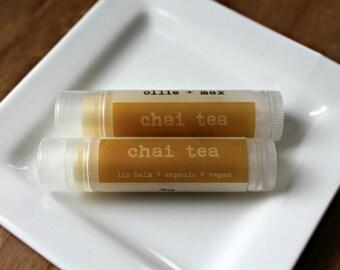 Chai Tea Lip Balm Organic Lip Balm Vegan Lip Balm .15oz