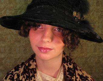 Edwardian Crusher Hat/ ca. 1900-1915