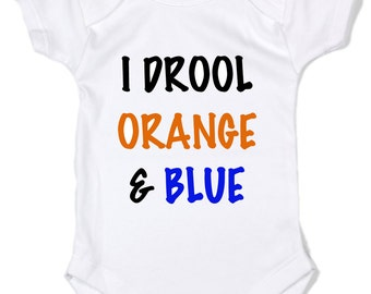 I  Drool Orange and Blue University Of Florida Gators Baby  Bodysuit
