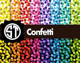 Confetti patterns printed indoor, outdoor, glitter, metallic decal VINYL or heat transfer vinyl HTV or applique FABRIC