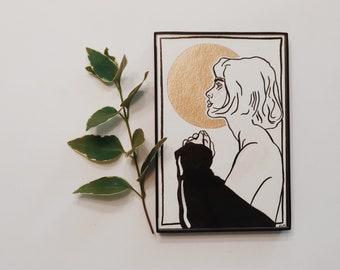 Sun Portrait // Watercolor & Ink Illustration