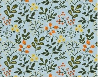 Berries & Flowers in Sky Blue - Gardening - Dinara Mirtalipova - Windham Fabrics - 1 Yard