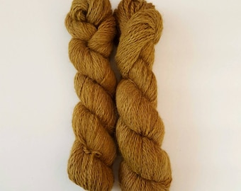 Superfine Alpaca Aran Weight Hand Dyed Tonal Variation GATHERING ACORNS