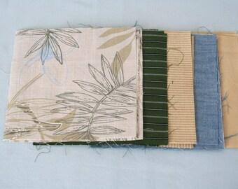 6 inch Fabric Squares Set, 25 Precut Squares, 100% Cotton Fabric, Quilting Squares