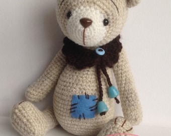 Alex - OOAK Artist Crochet Teddy Bear