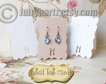 50 INITIAL 2 x 3 inch Tent EARRING CARDS, Jewelry cards, Earring Display, Earring Holder, stud card