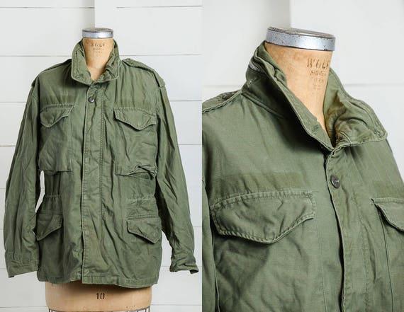 Minimalist Stoner Army Green Boho M65 Parka Military Us 70s Hippie x40zqw