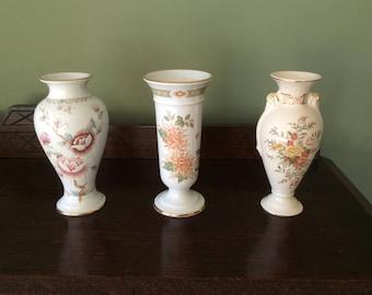 3 Vintage, M&S, St Michael bud vases.