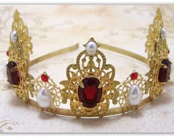 Medieval Tiara - Renaissance Tiara - Tudor Tiara, Medieval Jewelry, Renaissance Jewelry, Tudor Crown, Medieval Crown, Renaissance Crown