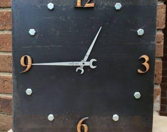 Steel Channel Clock