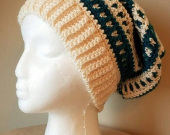 Teal Slouchy Beret Hat - Ready to be Shipped