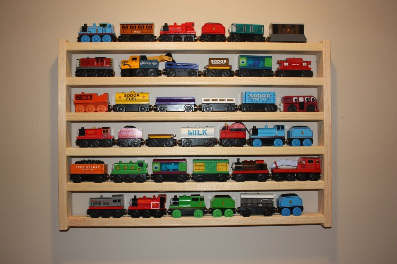 thomas org shelves display trains my train bottom from hospee right s wooden shelf collection the on childhood