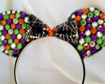 Halloween Gem Mickey Ears