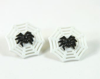 Spider earrings, Spider web earrings, fun earrings, Halloween earrings, Spider studs, Web studs