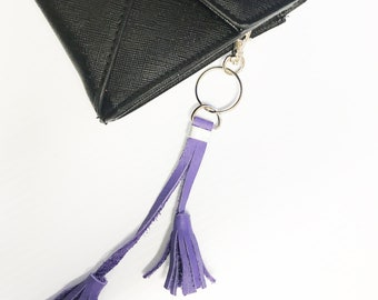 Real Leather Fringe Keychain | Leather Tassel Keychain  Bag Charm | Leather fringe | Leather Fringe Tassel Keychain | Tassel Handbag Charm