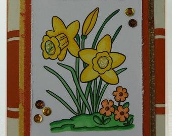 Daffodil Note Card