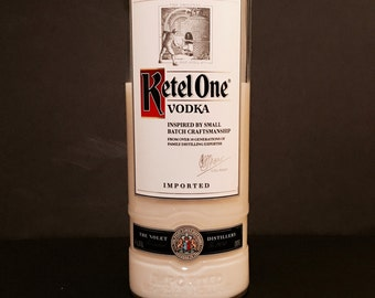 Recycled Ketel One Vodka Bottle Candle