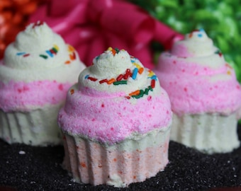 Fruit Loops Cupcake Bath Bomb