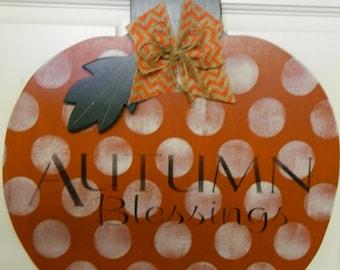 Happy Halloween Or Autumn Blessings Pumpkin