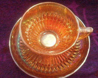 Jeannette Glass Company Anniversary Pattern Cup & Saucer