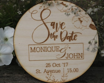 Wooden Save the Date Magnets/Save the Date Magnets/Save the Dates/Wood Magnets/ Rustic SAVE THE DATE for wedding