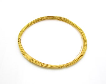 5 Meters, 28ga, 24k Gold Vermeil Wire