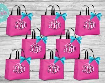 Bridesmaid Totes Bridal Party totes , Bridesmaid Gifts, Bridal Party Gift, Bridesmaid Tote Bag, Personalized Wedding Bag, Monogrammed Totes