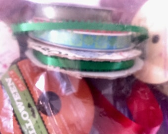 Assorted Colors Ribbon 13 oz Bag width and Lengths