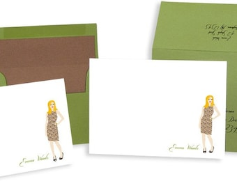 Fashionista Note Cards box of 10