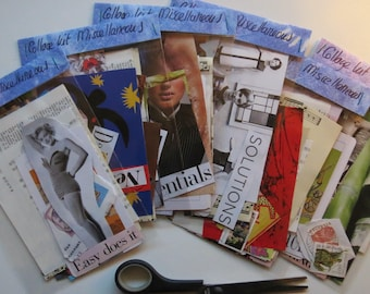 Collage kit, miscellaneous paper goodies, art kit, clippings, journaling, scrapbooking