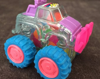 Vintage clear Skeletcar monster toy truck