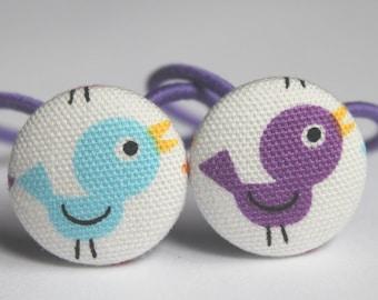 Rainbow Tweety Birds-------2 Ponytail Holders