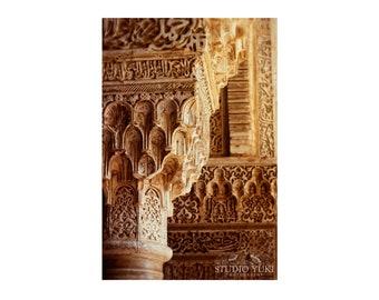 Alhambra Photo, Islamic Architecture, Travel Photography, Fine Art, Islamic Art, Spain Decor, Large Wall Art, Zen Decor, Moroccan Style
