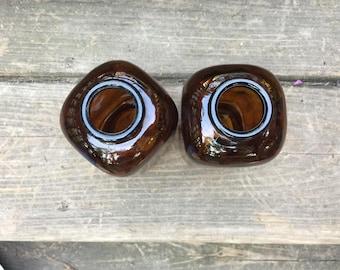 Glass Snuff Jars