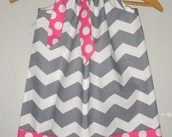 Dress Gray chevron dress available in size 3,6,9,12,18, months ,2t,3t,4t,5t,6,7,8,10,12
