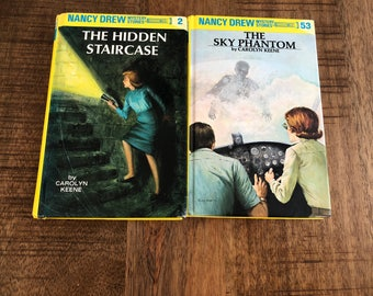 Set of 2 Nancy Drew Books The Hidden Staircase and The Sky Phantom by Caolym Keene