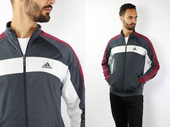 ADIDAS Track Jacket Windbreaker Adidas Vintage Adidas Windbreaker 90s Windbreaker Adidas 90s Adidas Track Jacket Grey Tracksuit Adidas Retro