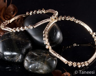 Wedding Jewelry , Indian Bangles,crystal BANGLES , BRIDAL Bangle Bracelets wedding Bangle set by Taneesi BAT438