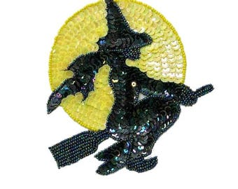 Expo Witch And Moon Sequin Applique