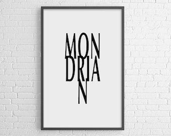 Mondrian poster print