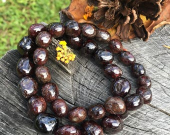 Garnet Bracelet, Gemstone Bracelet, Gifts for Her, Gemstone Jewelry