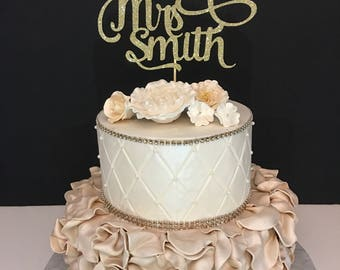 Future Mrs Cake Topper, Engagement Party Cake Topper, Bridal Shower Cake Toppers, personlaziednwith any name!