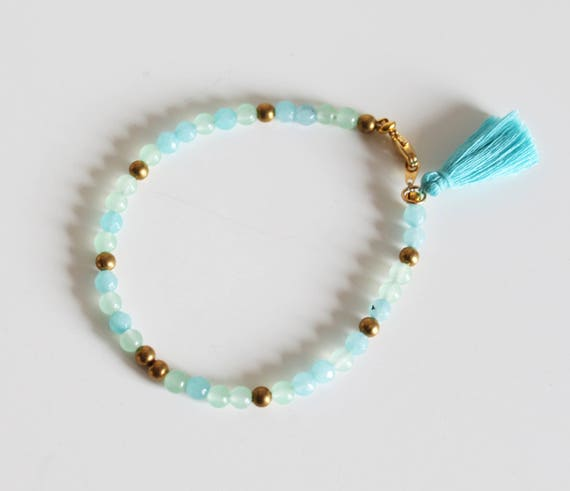 Bracelet beads and turquoise tassel