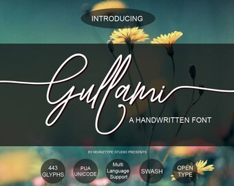 Gullami Rice Script Calligraphy Font Download Modern Digital Typeface