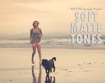 Soft Matte Tones Lightroom presets, portrait, matte, film, family, kids, summer, landscape, creative, vintage, preset, presets