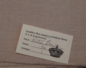 32 ct. Winter Brew Linen from R&R Reproductions (1/8th yard pricing)