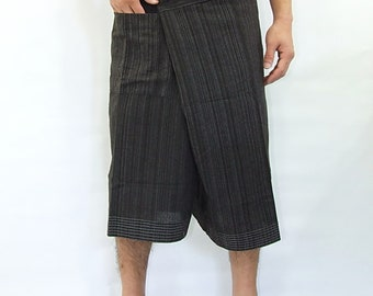 100% cotton thai fishermanpants handmade by my mum short 3/4 legs style 030S