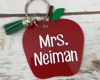 Personalized Apple Teacher Gift - Teacher Christmas Gift Idea - Personalized Apple Gift for Teacher - Personalized Apple Gift