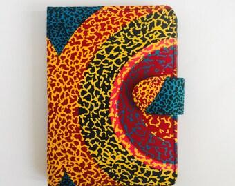 "8"" Ankara Super Sun Tablet Case // Notepad Holder & Cover // African Print"